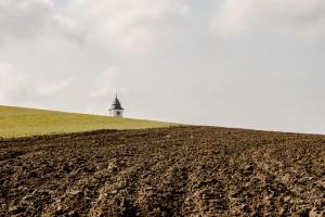 Einsame Kirchenturm