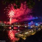 Linzer Klangwolke 2018 - Feuerwerk