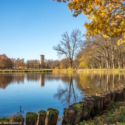 Teich im Garten des Schlosses Drottningholm