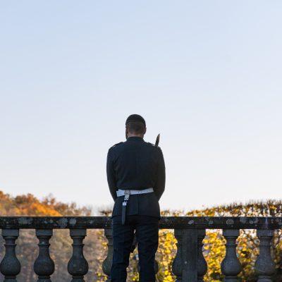 Die königliche Wache vorm Schloss Drottningholm