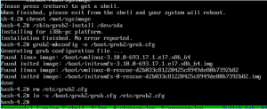 RHEL7 - Grub Rebuild Commands