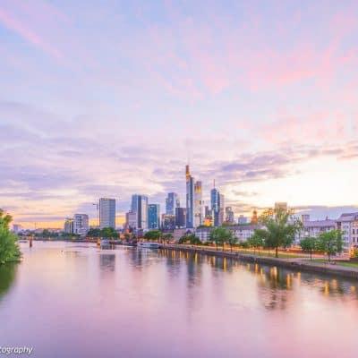 Frankfurt nach Sonnenuntergang